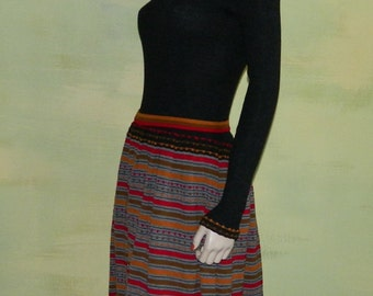 S Gorgeous 70s Doby Kint Pieced Knit Dress Sweater Dress Sweater Girl Dress As Is