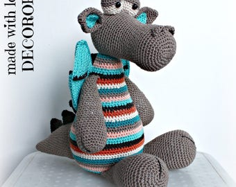 Brown plush DRAGON personal made to order.