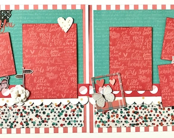 Adore You 2 Page Scrapbook Page Kit