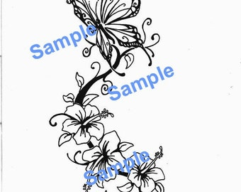 Butterfly Flower SVG