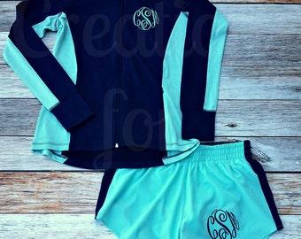 Womens Monogrammed Jacket, Full Zip Jacket, Monogrammed Jacket, Monogrammed Running Coat, Monogrammed Sport Wick, Dance Jacket, Cheer Jacket