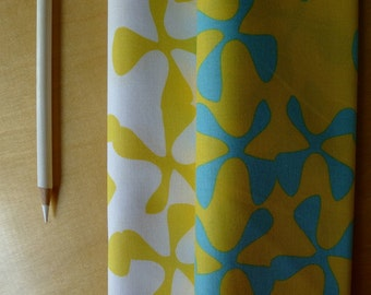 FQ Sphere Sunshine Yellow Teal Wind Flowers Bundle - Zen Chic Moda  - Fat Quarters (2) Pieces - Modern Quilting Sewing Craft Cotton Fabric