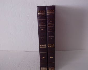2  Vintage Decorative  Books Decoration - Library of Distinctive Sermons Vol 1 & 2
