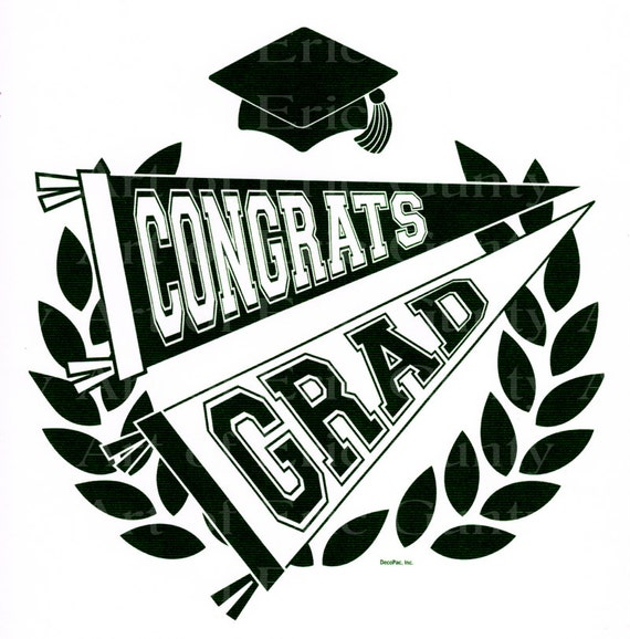 Congrats Grad Graduation - Edible Cake and Cupcake Topper For Birthday's and Parties! - D22352