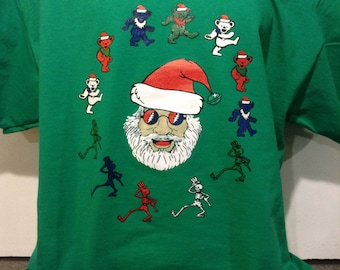 Grateful Dead Jerry Garcia Christmas  T-shirt