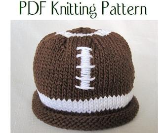 Baby Football Hat pattern, knit, Boston Beanies
