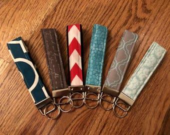 Wristlet Keychain / Key Fob - 10 fabric choices available!
