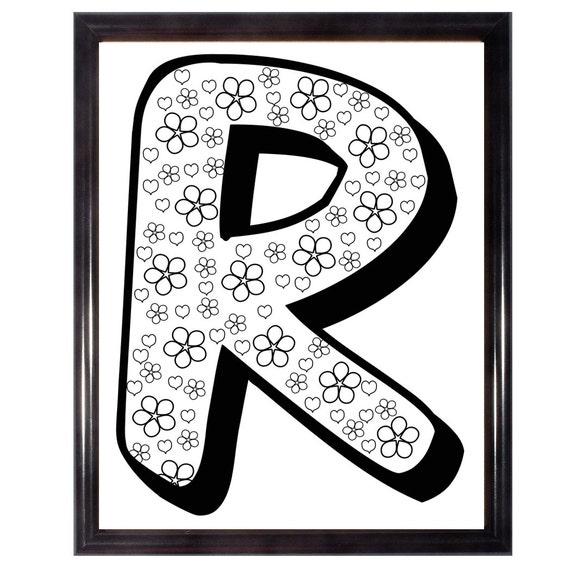 Buchstabe R Färbung Erwachsenen Färbung Seite Alphabet