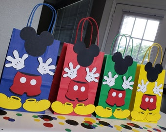 MICKEY MOUSE CLUBHOUSE Birthday Party (Set of 10) Favors/ Bags / Goodies/ Goody/ Loot/ Candy/ Treats/ Supplies/ Decorations/ Fiesta/ Gifts