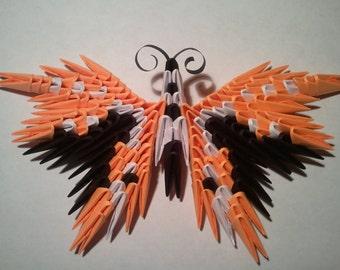 Imán de mariposa de origami 3D 1