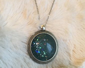 Galaxy Pendant -  Smokey Army Green
