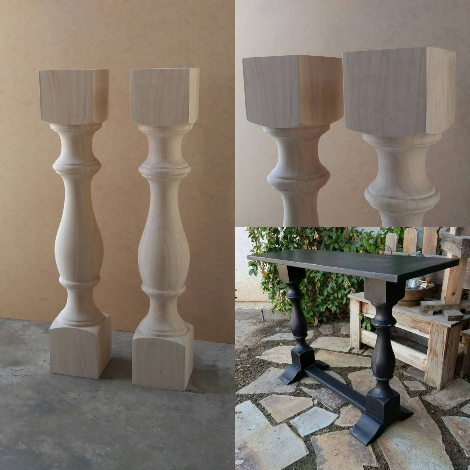 18 Traditional Bench Legs or Coffee Table Legs