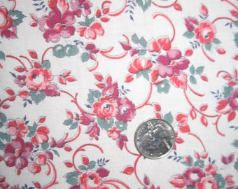 Vintage 1930s/40s Full Cotton Feedsack-Pink and Lavender Floral