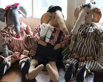 Handcrafted Adorable Stuffed Elephants
