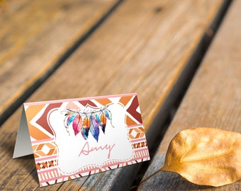 Bohemian Boo Bash Place Card or Food Tent Cards. DIY Party Decor. *INSTANT DOWNLOAD*
