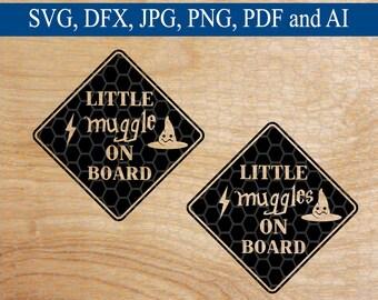 Little Muggle On Board SVG, Mom SVG, SVG, svg File, svg Files, svg Designs, svg File for Circuit, Silhouette Files, Cut Files, svg File
