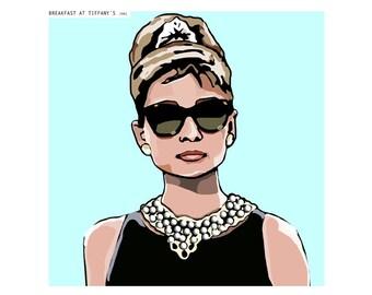 Download Breakfast at Tiffanys digital illustration