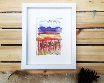 Fireweed Meadow // And After the Fire // Watercolor Print