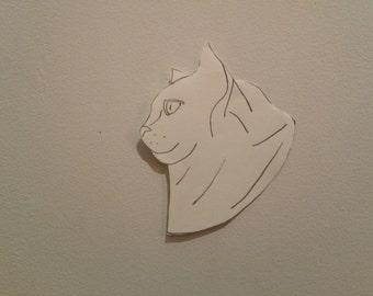 Personalised Cat Portrait Pattern 1 (Miniature)