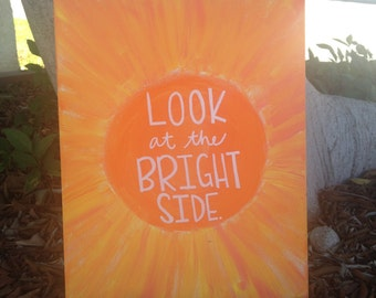 Look at the Bright Side - 11 x 14 Canvas Painting