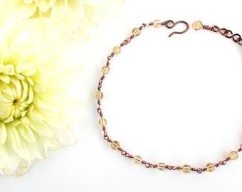 Simple Citrine Bracelet, Yellow Bracelet, Minimalist Bracelet, Sustainable Bracelet, Eco Friendly Bracelet, Sustainable Jewelry