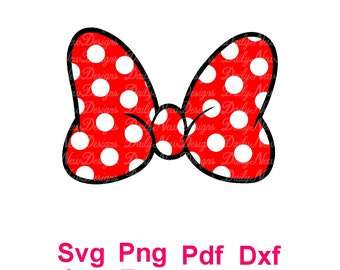 Minnie Mouse Bow SVG, Disney Svg, minnie bow Svg for Cricut and Silhouette, INSTANT DOWNLOAD, Digital files, svg, png, eps, pdf, jpg, ai