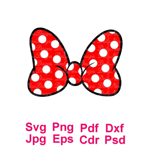 Minnie Mouse Bow Svg Disney Svg Minnie Bow Svg For