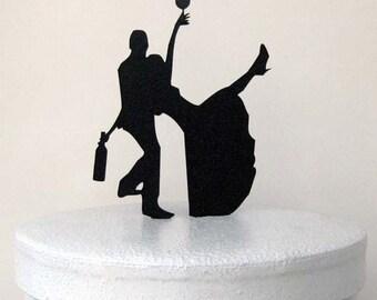 Wedding Cake Topper - Drunk Bride!
