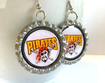 Pittsburgh PIRATES Baseball Handcrafted Earrings