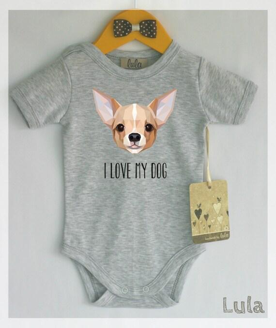 Chihuahua Baby Clothes Dog Baby Shirt Print Cute Dog Baby
