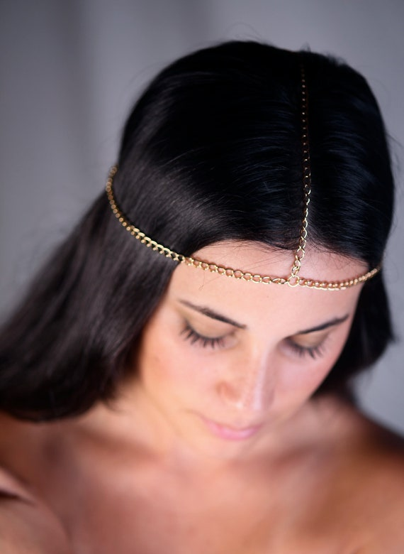 Head Chain | Hair Chain | Chain Headpiece | Head Jewelry Chain | Head Chains | Bridal Hair Chain | Chain Headdress | Gold Hair Chain