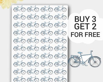 Bicycle Planner Stickers in Light Blue