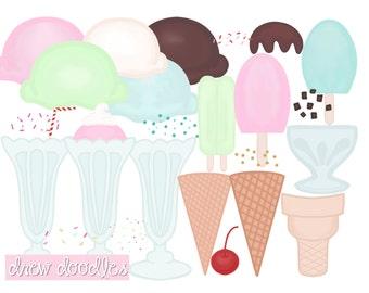 Ice Cream Digital Clip Art Set- Instant Download