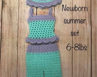 Summer mewborn girl set