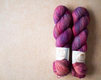 Sock Yarn - Merino+Nylon sock yarn - hand dyed - 100 grams - Summer 2017 sock yarn club - Berry season