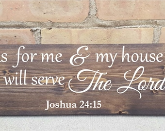 As for me and my house, wood signs, home decor, bible verse, home decor,