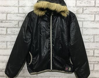 Converse puffer jacket hoodie L size
