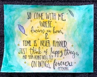 Original Peter Pan Watercolor