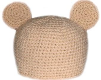 Teddy Bear Hat (5 Sizes) - PDF Crochet Pattern - Instant Download