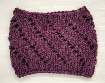 Berry chunky knit cowl