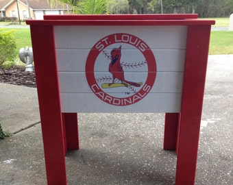 Custom Painted wood cooler stand