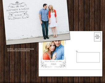 5x7 Save the Date Postcard Template - S24