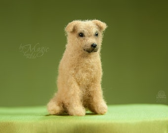 Custom dog figurine, needle felted puppy, custom dog sculpture, pet memorial, toy dog, felted miniature, tiny dog gift, felted beloved pet