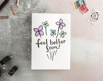 Feel Better Soon Letterpress Get Well Soon Card