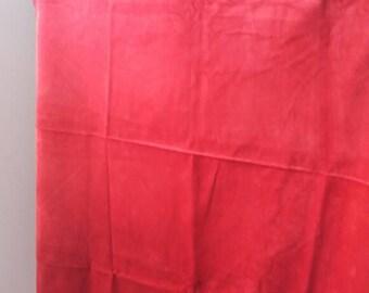 Red velvet lycra mix fabric