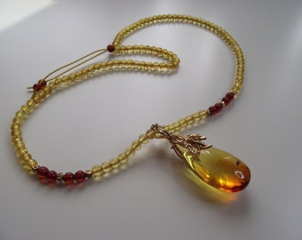 Natural Baltic Amber Necklace With Pendant