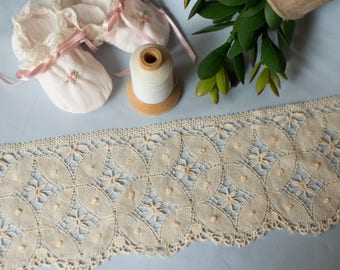 French Cluny Insertion Lace - (LFCLU412INS170)  4 1/2 inches