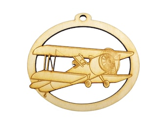 Biplane Ornament - Personalized Pilot Gift - Biplane Gifts - Gift for Pilot - Biplane Party Decorations - Biplane Decor