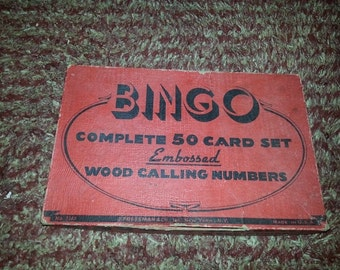 Vintage Bingo Game - All Original