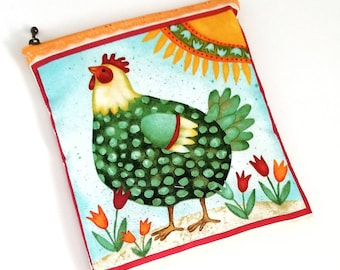 Happy Hens Wet Bag - PUL Lined